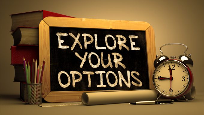 Explore Your Options Motivation Quote On Chalkboard
